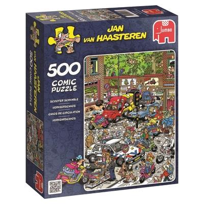 Jumbo 17465 Jan Van Haasteren Scooter Scramble  500-piece Jigsaw Puzzle