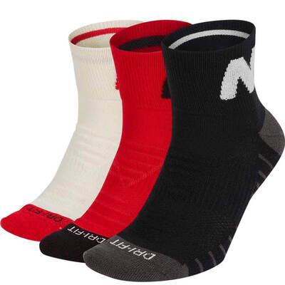 Nike Golf Socks Everyday Max Quarter Red Multi AW19