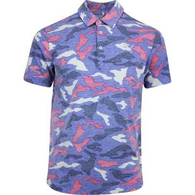 PUMA Golf Shirt Raleigh Camo Polo Dazzling Blue Heather AW19