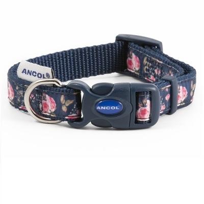 Ancol Navy Rose Adjustable Dog Fashion Collar
