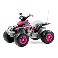 Peg Perego Corral T-Rex Pink Kids 12v Ride On Quad