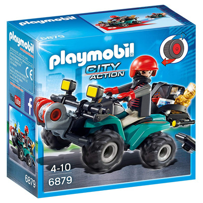 Playmobil Robbers Quad With Loot With Pullback Motor