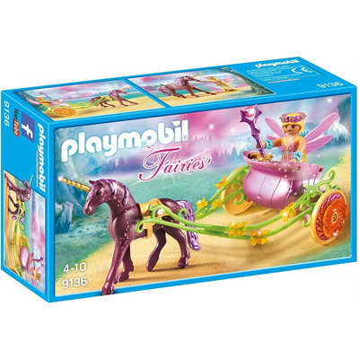 Playmobil Fairies Unicorn Drawn Fairy Carriage