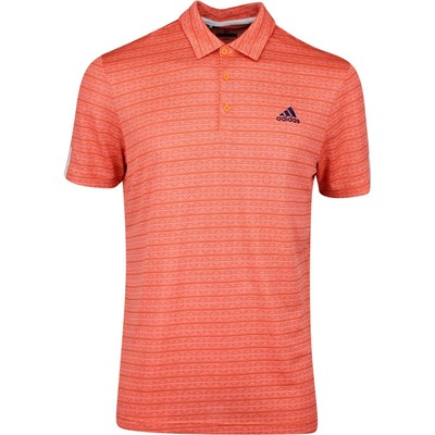 adidas Golf Shirt Collection 216 Jacquard Stripe Polo Amber Tint SS20