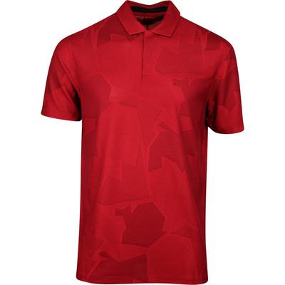 Nike Golf Shirt TW Dry Camo Jacquard Gym Red SS20
