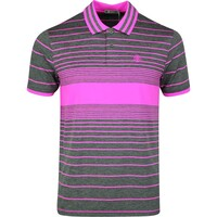 Image of G/FORE Golf Shirt - Illusion Stripe Polo - Bougainvillea SS20