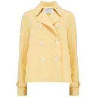 Cropped Trench Jacket - Pastel Yellow