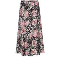 Erica Exclusive Silk Printed Skirt - Pomander
