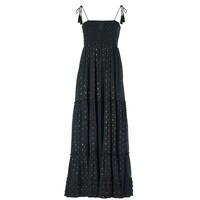 Livia Frill Cotton Maxi Dress - Charcoal