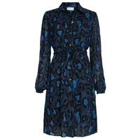 Freida Lou Short Shirt Dress - Artist Leopard Blue