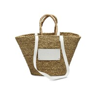 Large Straw Beach Bag - White