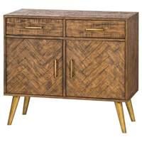 interiors etc &pipe; Havana Gold 2 Door 2 Drawer Sideboard