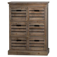 Brooklyn Distressed Pine Six Drawer Chest