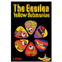Beatles Yellow Submarine Guitar Picks - Multi Colour