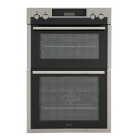 AEG DCS431110M Multifunction Built in Electric Double Oven, Stainless Steel