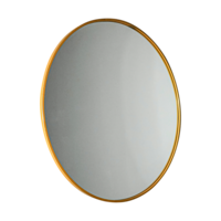 Gold Manhattan Round Mirror - Large