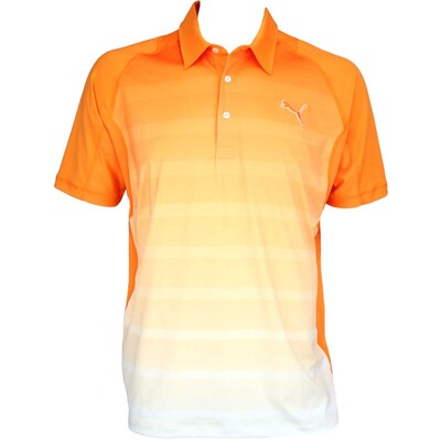 Puma GT Titan Graphic Golf Shirt Vibrant Orange AW15