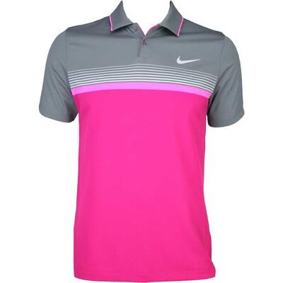 Nike MDRN Momentum Fly Stripe Golf Shirt Sport Fuchsia AW15