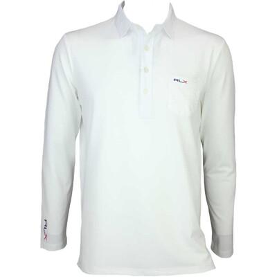 RLX LS Tech Pique Golf Shirt White AW15