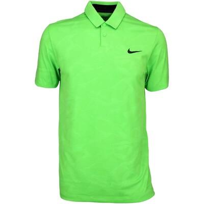 Nike Modern Mobility Camo Jacquard Golf Shirt Green Pulse AW15