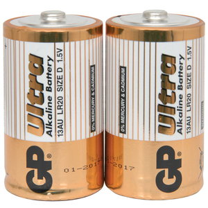 Alkaline D Batteries 2 Pack