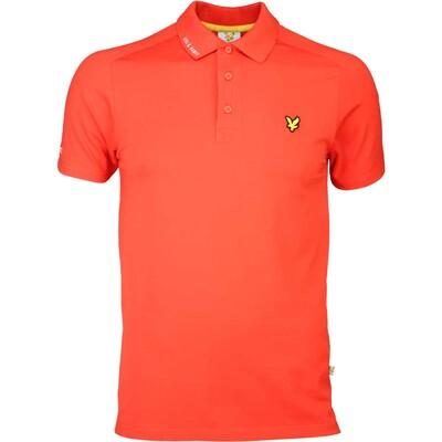Lyle Scott Golf Shirt 8211 Hawick Tech Tour Sports Orange SS16