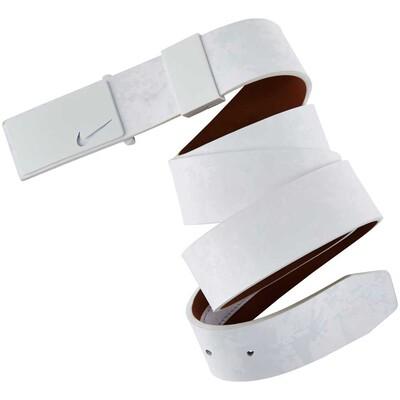 Nike Golf Belt Sleek Modern Textured Plaque White SS16