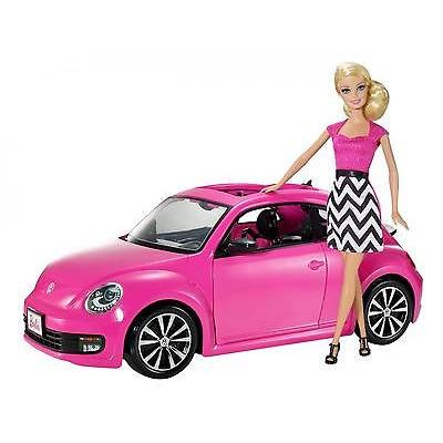 Barbie Volkswagen Beetle Car And Doll