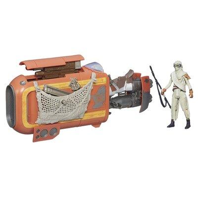 Star Wars   The Force Awakens Reys Speeder Bike With Rey Jakku Action Figure