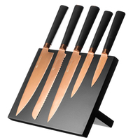 Viners Titan Copper 6pc Knife Block