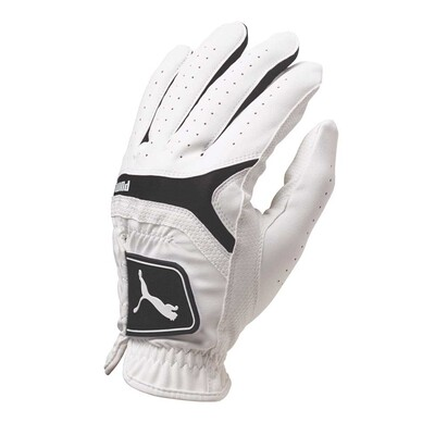 Puma Golf Glove Synthetic Leather White Black AW16