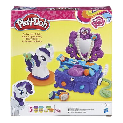 Play-doh My Little Pony Rarity Style And Spin Playset