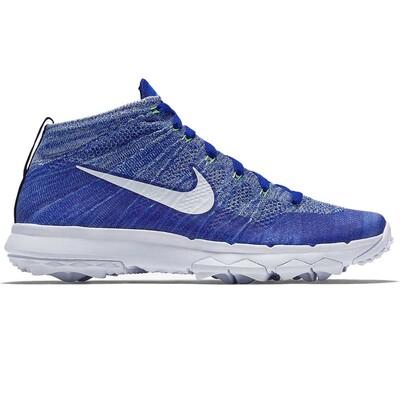 Nike Golf Shoes Flyknit Chukka Blue White SS16