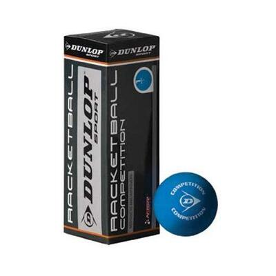 Dunlop Competition Racketball Ball - 3 Ball Box