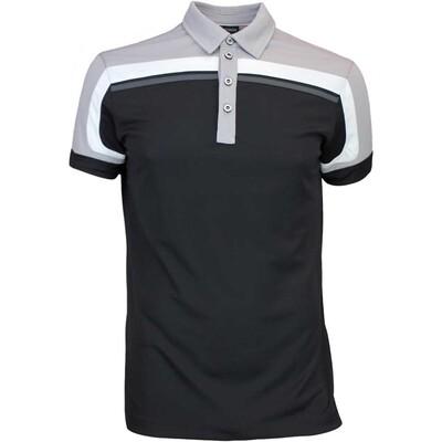 Galvin Green Golf Shirt MACOY Ventil8 Black Steel Grey AW16