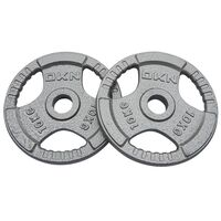Image of DKN Tri Grip Cast Iron Olympic Weight Plates - 2 x 10kg