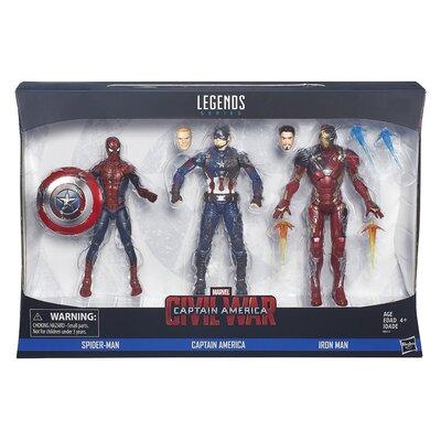 Captain America Civil War Marvel Legends: Marvel Legends 3 Pack