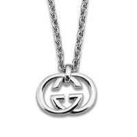 Gucci Silver Britt Sterling Silver Necklace  YBB190484001