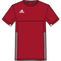 Image of Adidas T16 Mens Team Tee Red 2XS