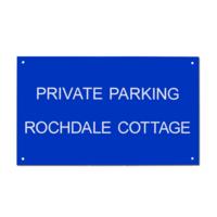 Acrylic House Sign Rectangle 30 x 50cm AC16