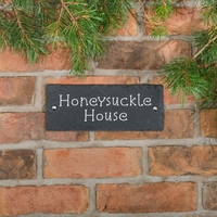 Rustic Slate House Sign - 2 line 25.5 x 10cm