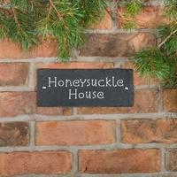 Rustic Slate House Sign - 2 line 25.5 x 10cm