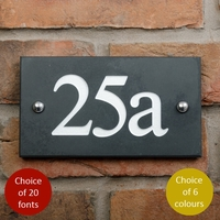 House numbers in smooth slate with 3 digits (WSN3)