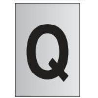 Metal Effect PVC Letter Q