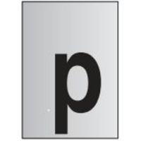 Metal Effect PVC Symbol p