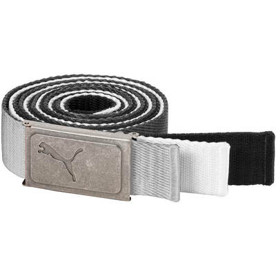 Puma Golf Belts 3 in 1 Web Pack Black White Quarry AW18