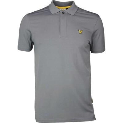 Lyle Scott Golf Shirt Elgin Houndstooth Slate SS17