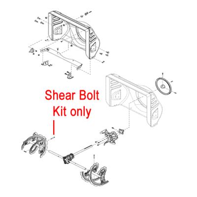 Stiga Stiga 1812-9029-01 Shear Bolt Kit for the Stiga Snow Fox, Snow 1171 and Snow 1381