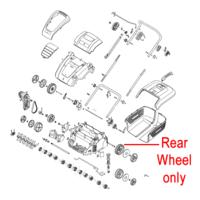 Mountfield MSR38 Scarifier Rear Wheel 118802650/0