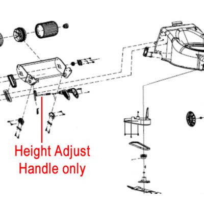 COBRA Cobra Height Adjust Handle 23600403001
